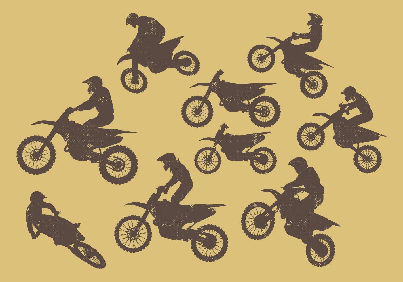 Dirt Bikes Silhouette - Download Free Vector Art, Stock Graphics ...