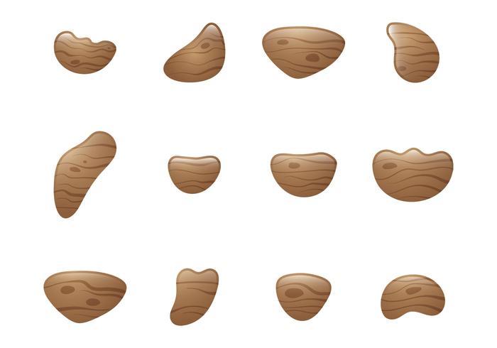 Wood Climbing Grip Vectors