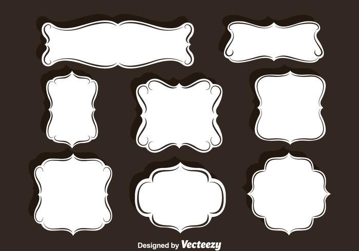 Conjunto de marcos de adornos de vectores