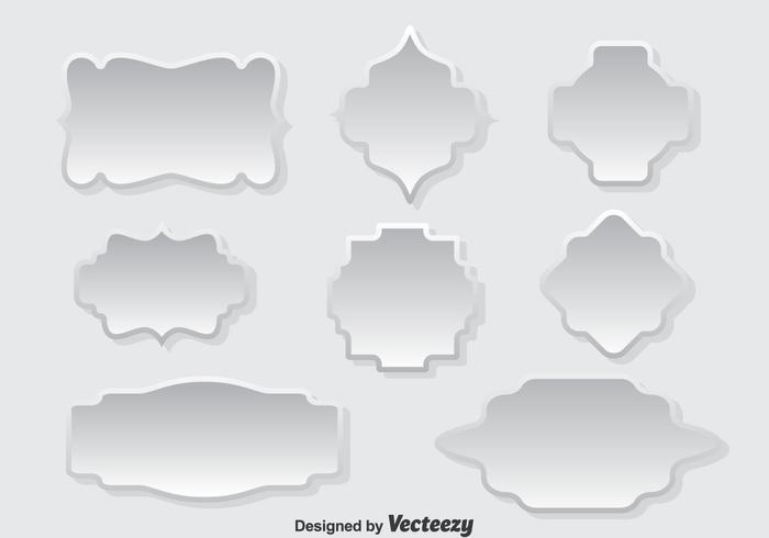 White Cartouche Vector Set