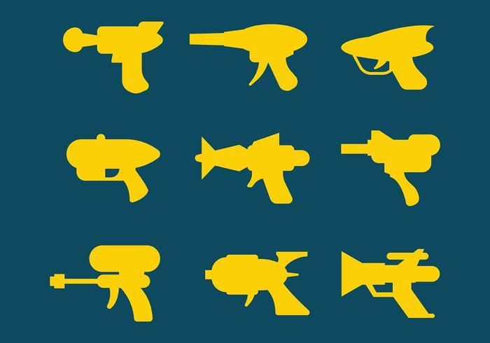Libre de armas láser iconos Vector