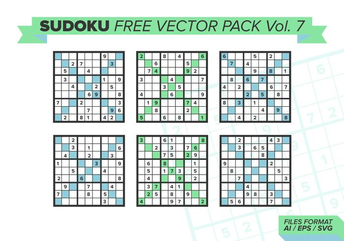 Sudoku Free Vector Pack Vol. 7