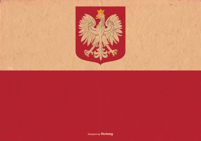 Old Poland Flag Vector