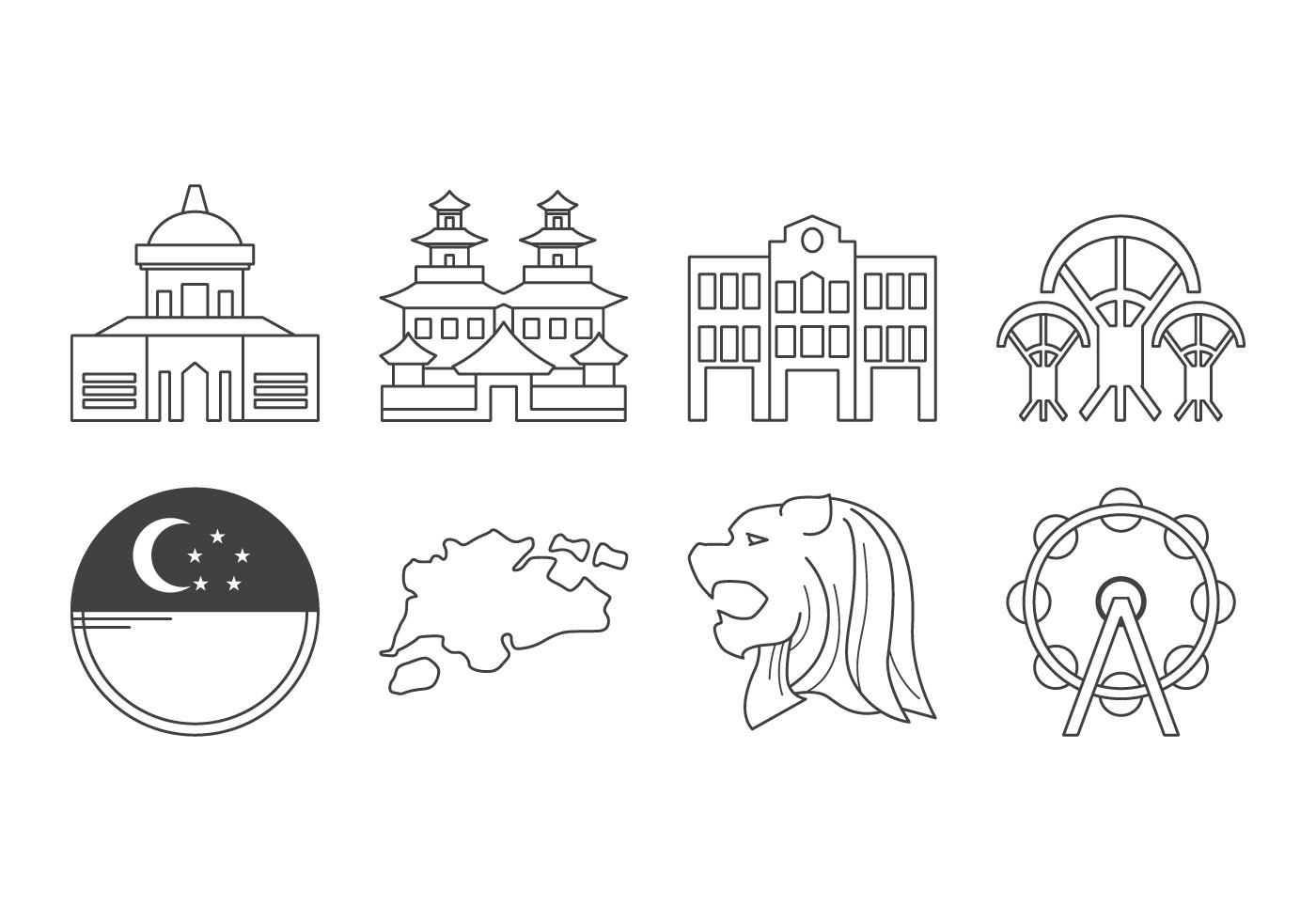 Free Singapore Icon Download Free Vector Art Stock