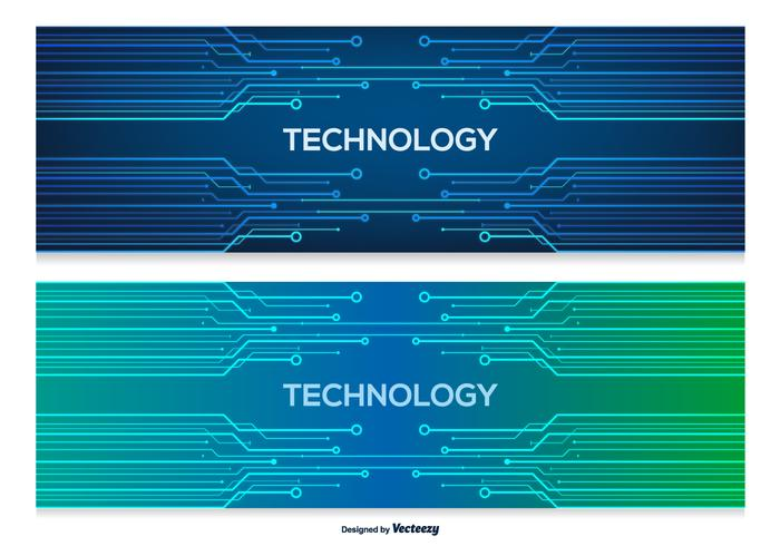 Technology Abstract Banners