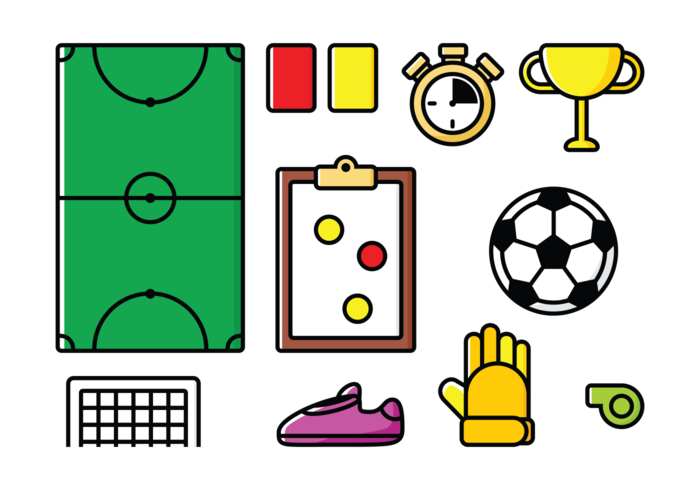 Icone di Futsal di vettore