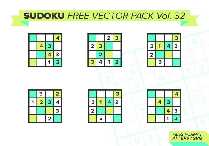 Sudoku Free Vector Pack Vol. 32