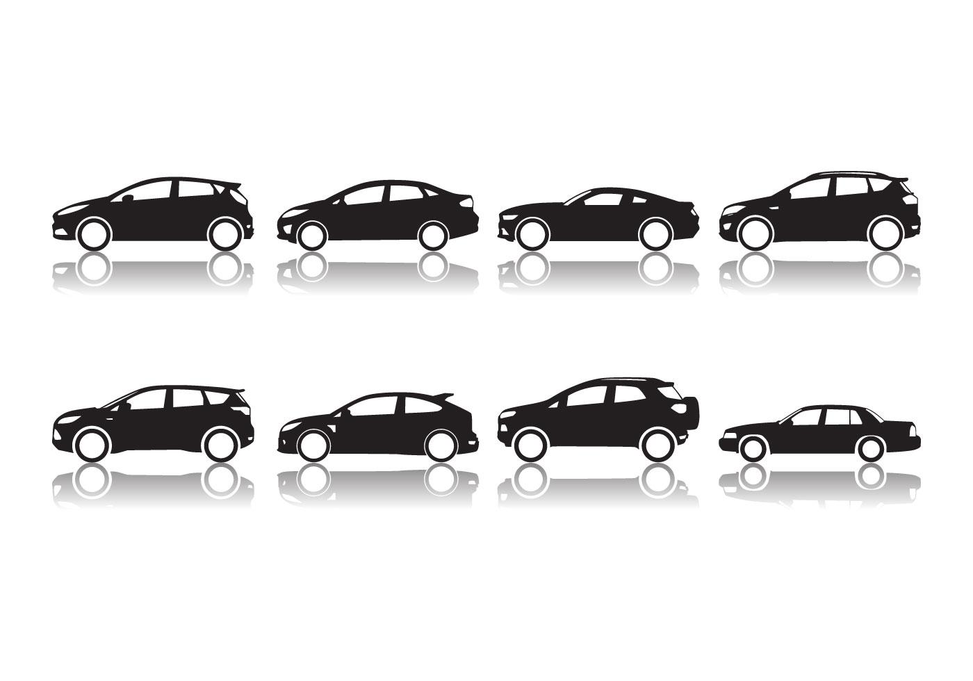Vector libre de la silueta del coche de Ford - Descargue Gráficos ...