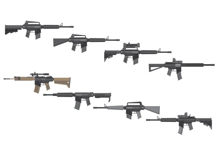 Free Assault Rifles Vector