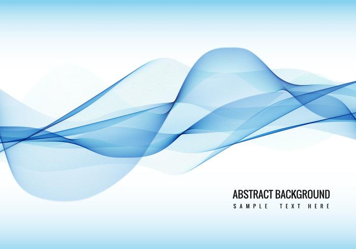 Vector Blue Wave background