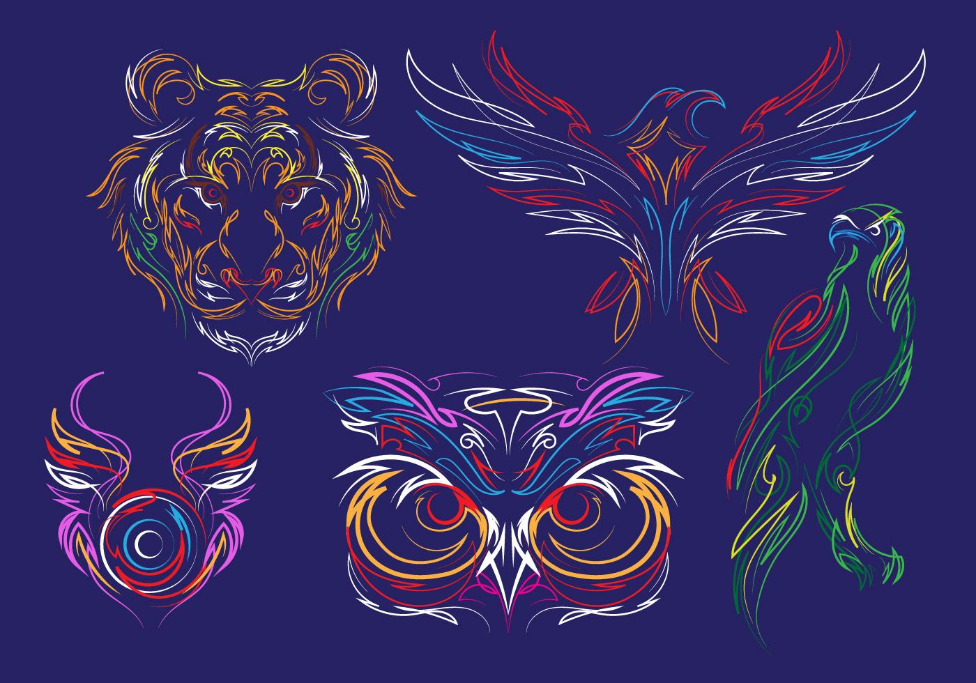 Pinstripes Animal Vectors Download Free Vector Art