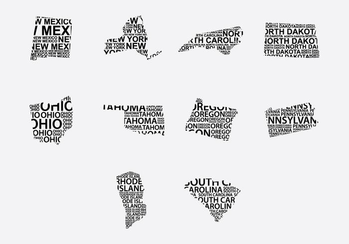 America Word Map Set 5