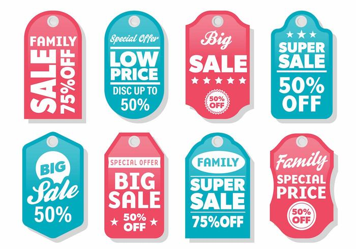 Free Modern Label Sale Vector