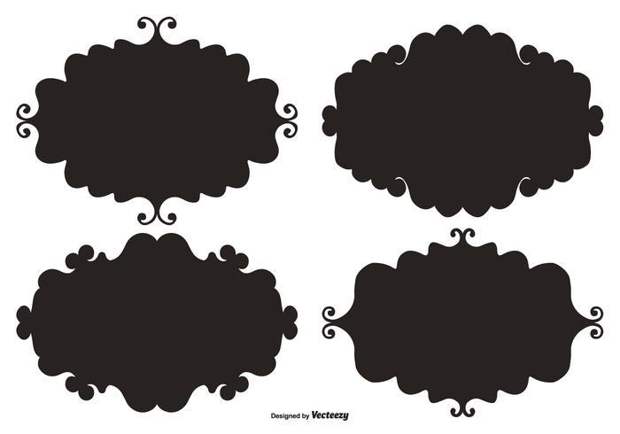 Doodle Vector Etikett Ramar