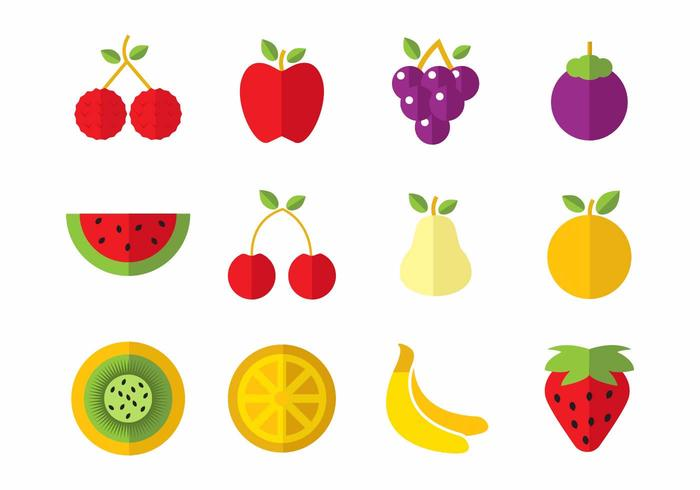 Free Fruits Icons Vector