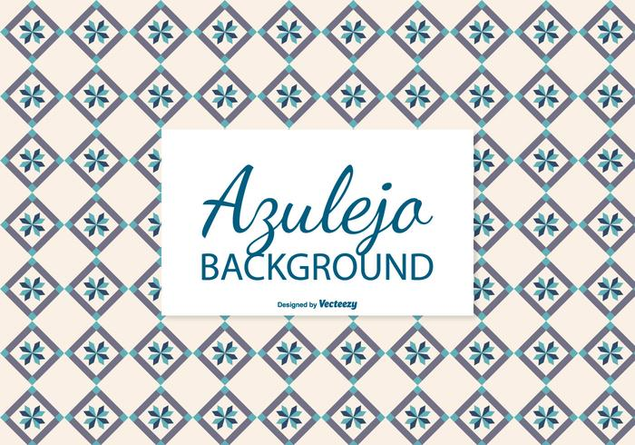 Creamy Azulejo Tile Background