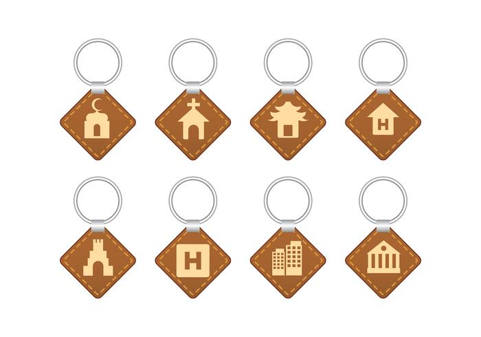 Landmark Souvenier Key Holder Vector