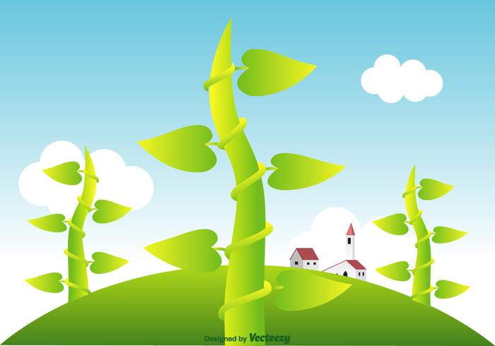 Free Beanstalk Vector Landscape