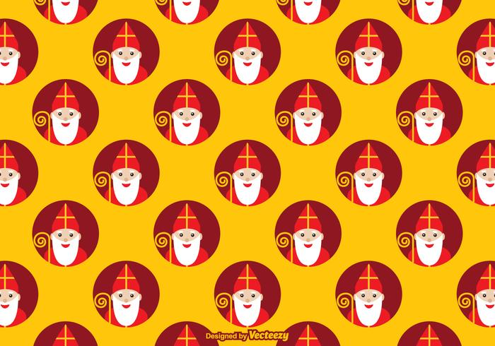 Free Sinterklaas Vector Pattern
