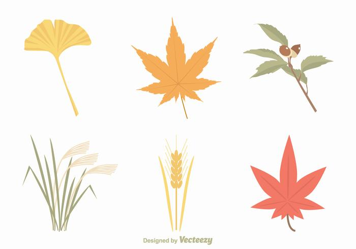 Free Autumn Leaves Vector Set