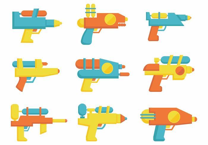 Free Water Gun Flat Vector