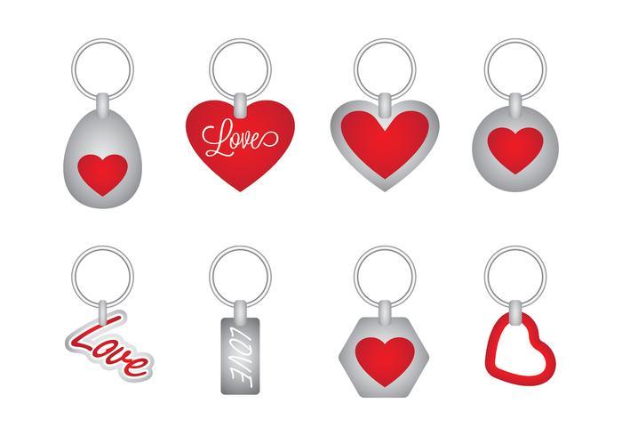 Love Key Holder Vector