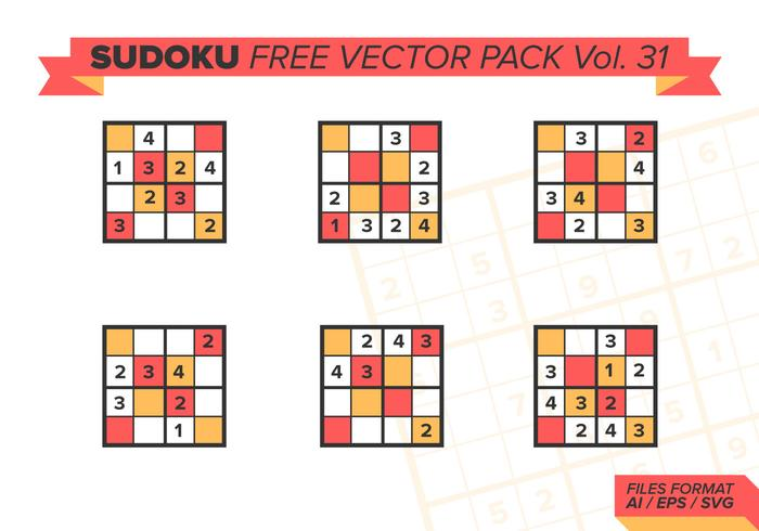 Sudoku Pack Vector Libre Vol. 31
