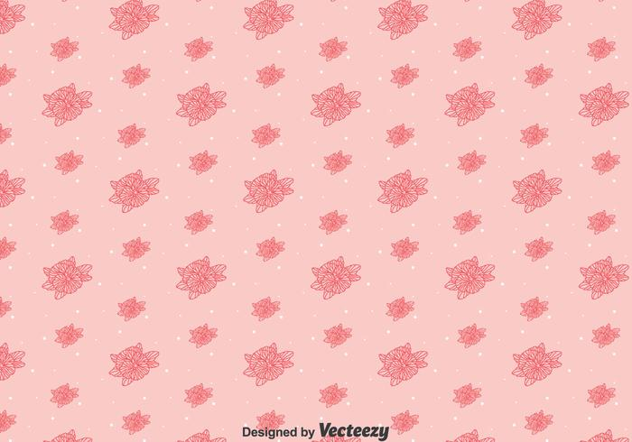 Pink Line Pansy Flower Pattern vector