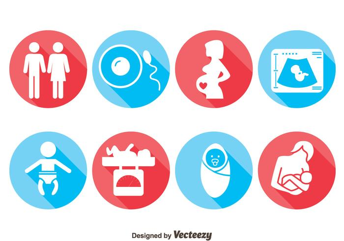 Pregnant Icons Vector