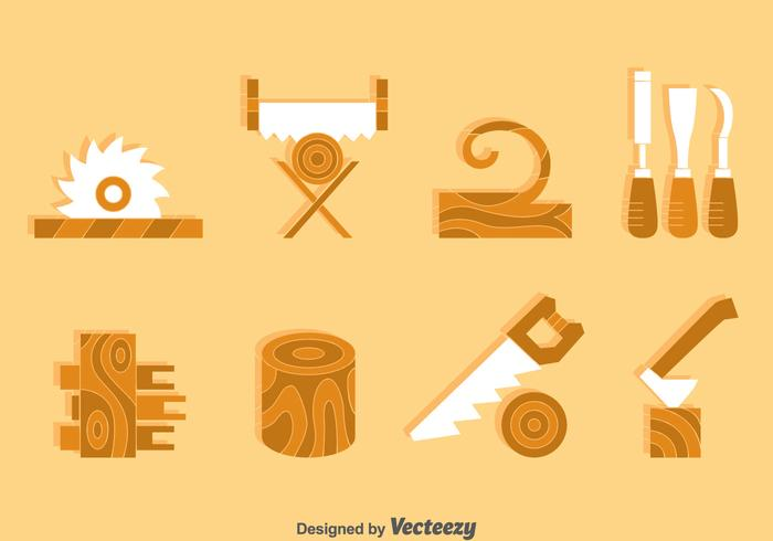 Wood Crafting Element Vector