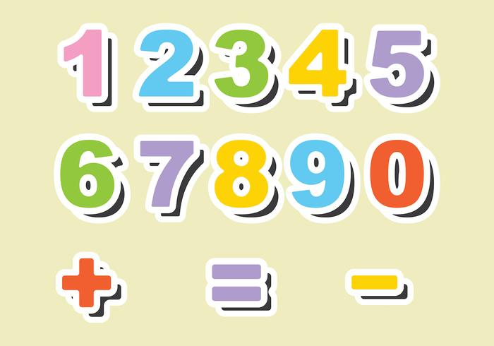 Fridge Magnet Number Vectors