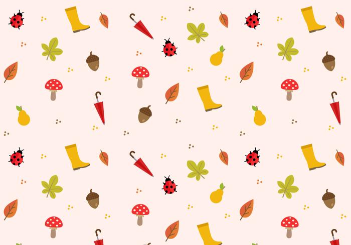 Freier Herbst Muster Vektor