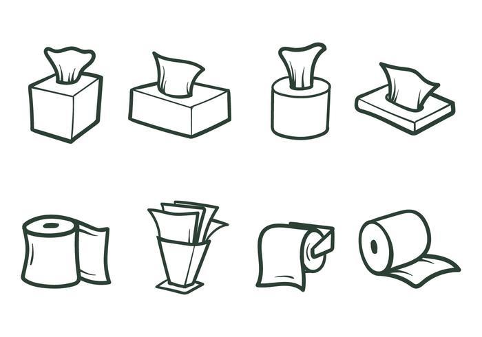 Libere los vectores del papel de tejido