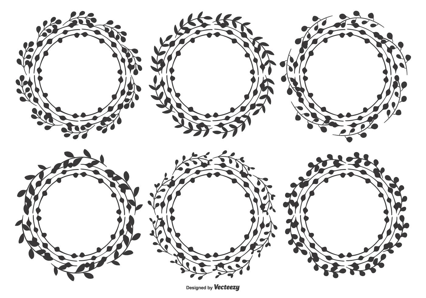 Nette Hand gezeichnete Blatt-Rahmen - Kostenlose Vektor-Kunst ...