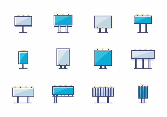 Icone del tabellone per le affissioni