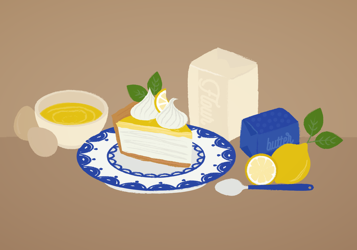 Vector Lemon Pie Illustration