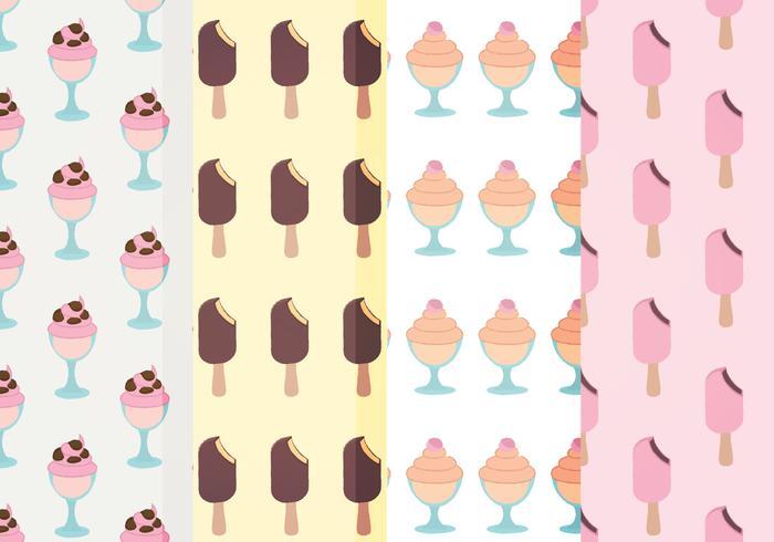 Vector Ice Cream Patterns