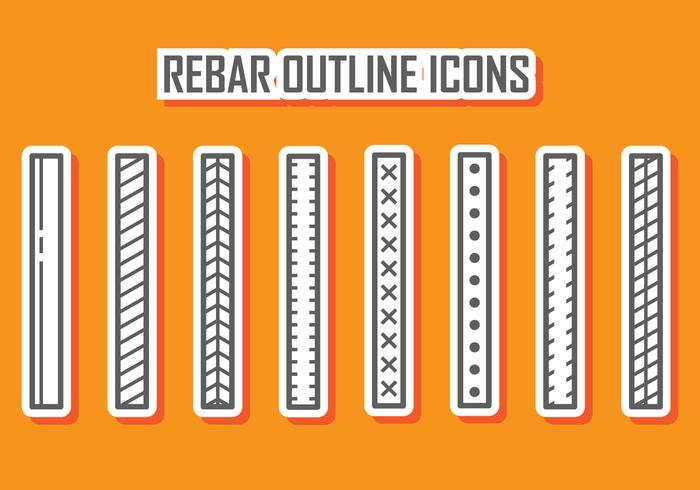 Rebar Outline Icons