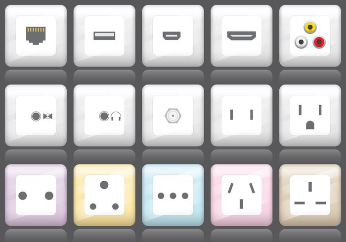 Plug And Socket Icons