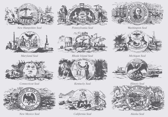 Seals Of States Of USA
