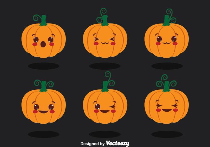 Cute Pumpkin Collection Vector