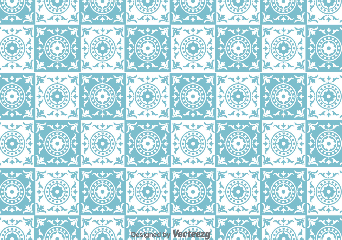 traditional tiles pattern vector download free vector