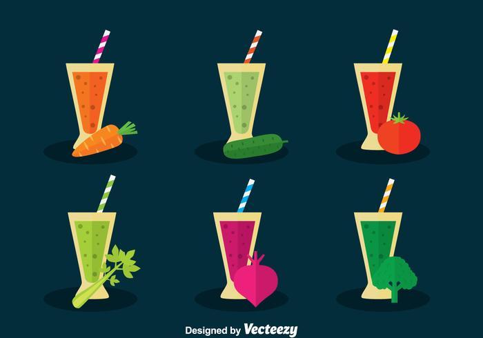 Vegetable Juice Vector Set