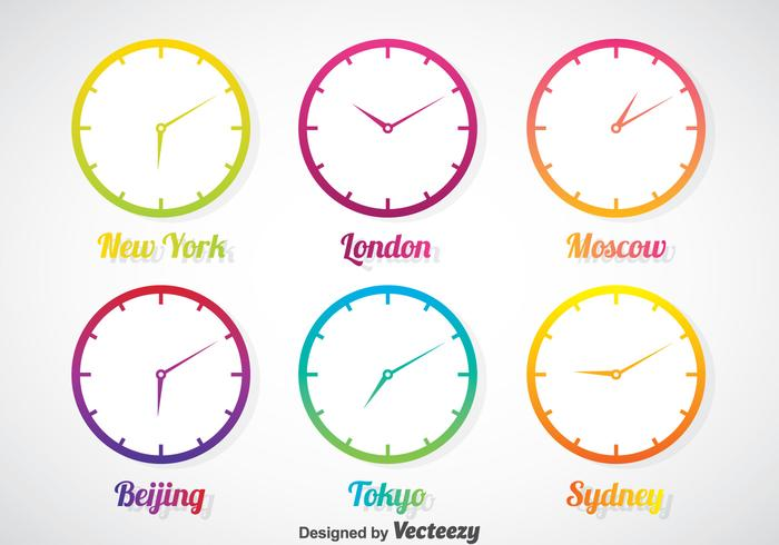 Time Zone In Gradient Clock Vector Set