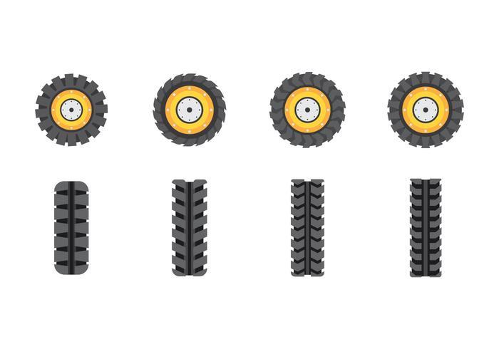 Vetores de pneus de trator livres
