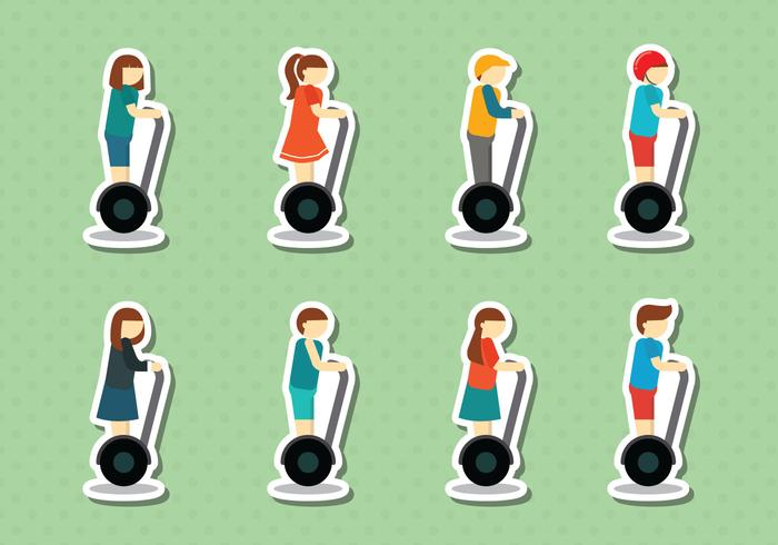 Free Segway People Vector