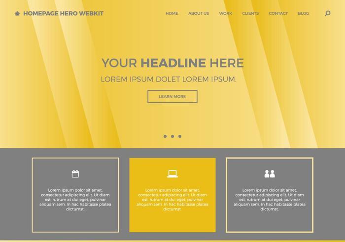 Free Homepage Hero Webkit 8 vector