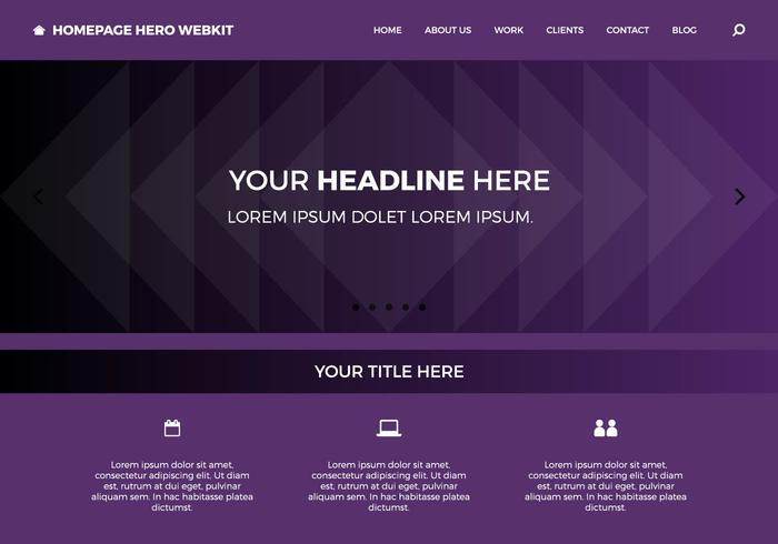 Homepage gratuita Hero Webkit 10 vetor