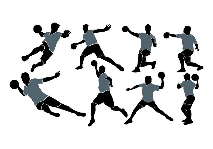 Dodgeball Player Silhouette Vectors