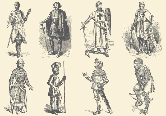 Mittelalterliche Ritter vektor